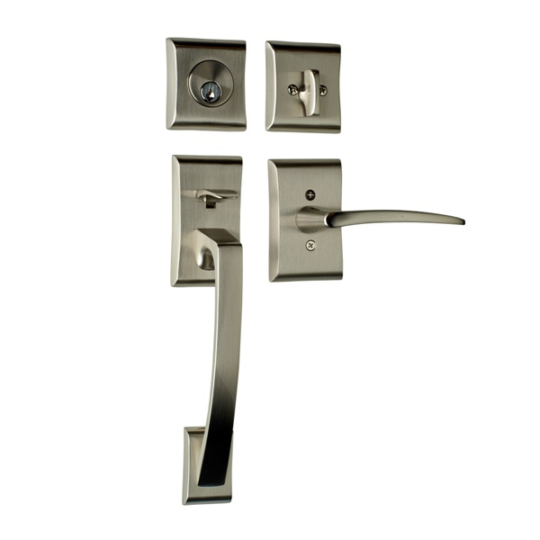 Ares with Poseidon Lever in Satin Nickel